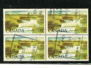Canada #937  scarce Used Block 4  VF   - Lakeshore Philatelics