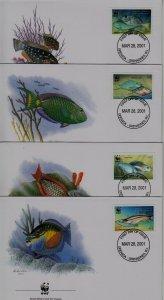Grenada Grenadines FDC 2294 WWF-01/Fishes