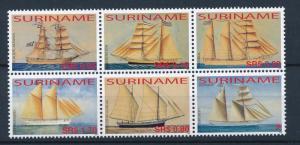 [SU1320] Suriname Surinam 2005 Old sailing ships  MNH