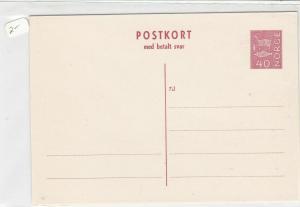 norway unused stamps card ref 19397
