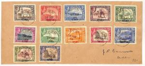 AE132 British Empire 1944 ADEN KGVI Pictorials Set{12} to 10r High Value Cover