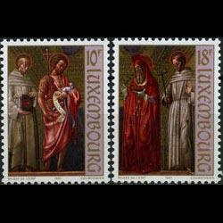 LUXEMBOURG 1987 - Scott# 773-4 Paintings Set of 2 NH