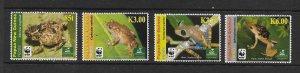 FROGS - PAPUA NEW GUINEA #1362-5   WWF   MNH