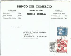 69177 - COLOMBIA - POSTAL HISTORY -  COVER to USA 1952 - RED CROSS Medicine
