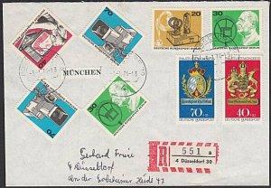 GERMANY Berlin : 1974 registered cover - nice franking......................K312