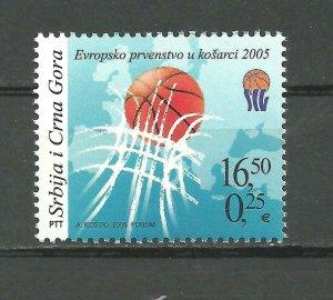 Serbia and Montenegro 2005  European Basketball Championship set MNH