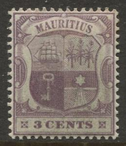 STAMP STATION PERTH Mauritius #95 Coat of Arms MLH Wmk 2 1895 CV$0.85