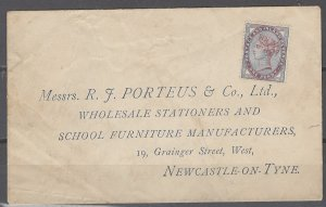 COLLECTION LOT # 2440 GREAT BRITAIN #89 UNUSED ON COVER 1881