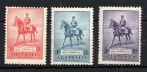 Australia 1935 Silver Jubilee mint LHM set #156-158 WS13957