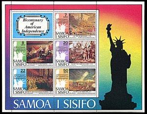 Samoa 432a, MNH, United States Bicentennial souvenir sheet