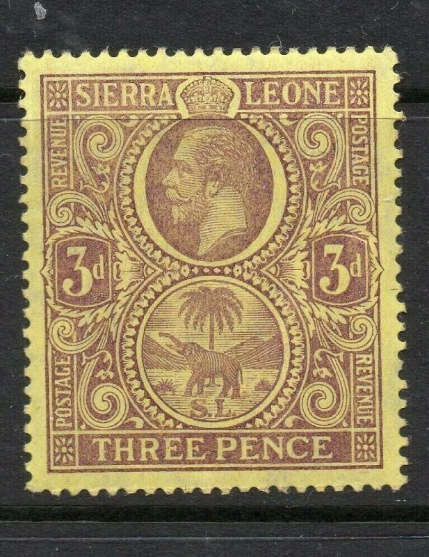 Sierra Leone 1912 Early Issue Fine Mint hinged Shade of 3d. 303683