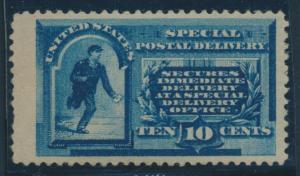 #E1 10c 1885 SPECIAL DELIVERY VF-XF OG LH WITH LARGE MARGINS CV $695+ BU8467