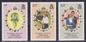 Tristan Da Cunha # 294-296, Princess Diana, Mint NH