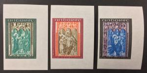 FRENCH ANDORRA, #207-209, 1971 set of 3, IMPERF. (BJS)
