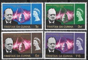 Tristan da Cunha # 89-92  Sir Winston Churchill   (4) Mint NH