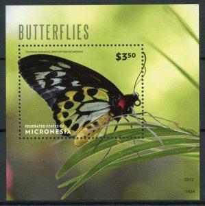 Micronesia Butterfly Stamps 2014 MNH Butterflies Richmond Birdwing 1v S/S I