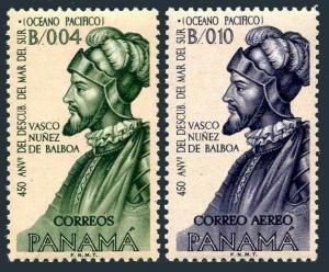 Panama 449,C295,MNH.Mi 687-688. Discovery of Pacific Ocean,Vasco Nuzes de Balboa