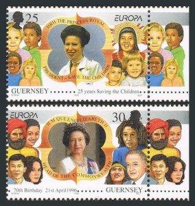 Guernsey 564-565,MNH.Michel 691-692. EUROPE CEPT-1996.Women of Achievement.