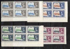 Nigeria #34 - #37 Very Fine Mint Never Hinged Blocks Of Six