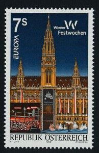Austria 1761 MNH EUROPA, Vienna Festival, Architecture