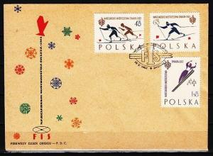 Poland, Scott cat. 1046a-1048a. World Skiing Championship. First Day Cover. ^