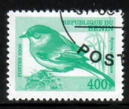 Bird, Subalpine Warbler, Sylvia Cantillans, Benin stamp used