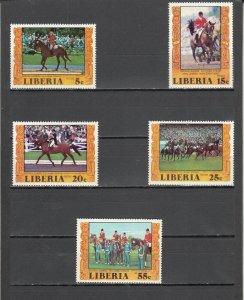 Liberia MNH 784-7,C216 Olympics Equestrian Winners Montreal 1977 SCV 5.40
