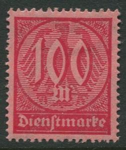 GERMANY. - Scott O21 - Officials -1922 - MLH  - Single 100m Stamp