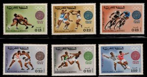 Morocco Scott 210-215 MNH** Mexico Olympic Games stamp set 1968