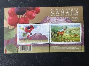 Canada Mint NH #2106b Biosphere reserves - souvenir sheet of 2, Nature