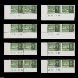 Hong Kong 1968 (MNH) Sea Craft sequence of 30 plate pairs. SG247-252. SC239-244