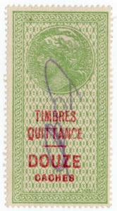 (I.B) France Colonial Revenue : Madagascar Duty (Quittance)