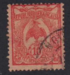 New Caledonia   1905   used  Kagu  10c.   #