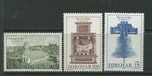 STAMP STATION PERTH Faroe Is.#186-188 Pictorial Definitive Iss. MNH 1989 CV$9.00