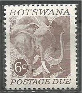 BOTSWANA, 1971 mint 6c Elephant Scott J6