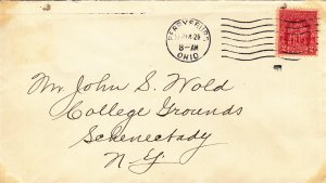 1929, Sc #680, Perrysburg, OH to Schenectady, NY, FDC (S18845)