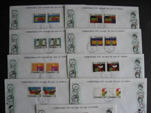 CANADA 1970 Xmas 4 centre blocks of 4 FDCs and more too