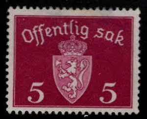 Norway Scott O33 MH* Official stamp 1931 perf tips toned at top