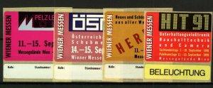 Germany 1991 Wiener Exhibition Labels