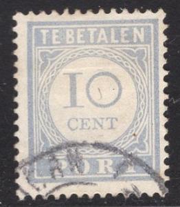 Netherlands  #J55 1912  used  postage due  10 cent