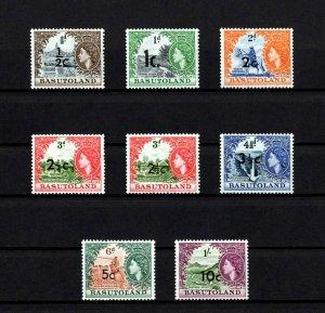 BASUTOLAND - 1961 - QE II - QILOANE - ORANGE RIVER ++  OVPTS - 8 X MNH  SINGLES!