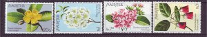 J21984 Jlstamps 1977 mauritius set mh #436-9 flowers