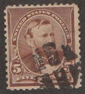 U.S. Scott #223 Grant Stamp - Used Single