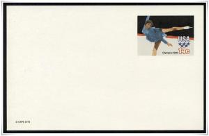 SC#UX82 14¢ Olympics: Figure Skating Postal Card Mint