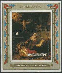 Cook Islands 1987 Scott 997 Christmas S/S  MNH