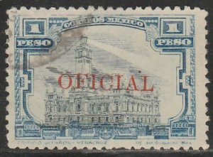 MEXICO O143, $1P OFFICIAL. Used. VF. (642)
