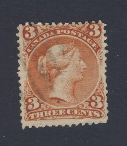 Canada Victoria Large Queen Stamp; #25-3c Used F/VF Guide Value = $35.00