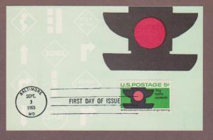 US # 1272 Public Traffic Safety Colorano Maxi Card - I Combine S/H