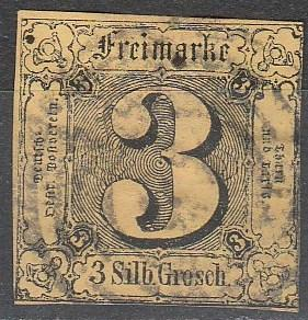 Thurn & Taxis #7 F-VF Used CV $30.00  (A16603)