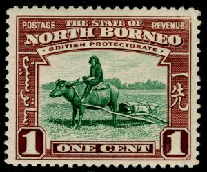 NORTH BORNEO SG303, 1c green & red-brown, LH MINT.